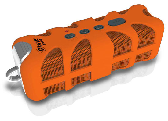 Pyle - PWPBT60OR , Home Audio / Video , i-Pod - MP3 Mini Speakers , Sound Box Splash Rugged and Splash-Proof Bluetooth Marine Grade Portable Wireless Speaker (Orange)