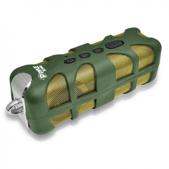 Pyle - PWPBTA70GN , Marine and Waterproof , Portable Speakers, Boom Boxes , Gadgets and Handheld , Portable Speakers, Boom Boxes , Sound Box Splash Rugged and Splash-Proof Bluetooth Marine Grade Portable Wireless Speaker (Green)