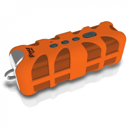Pyle - PWPBTA70OR , Marine and Waterproof , Portable Speakers - Boom Boxes , Gadgets and Handheld , Portable Speakers - Boom Boxes , Sound Box Splash Rugged and Splash-Proof Bluetooth Marine Grade Portable Wireless Speaker (Orange)