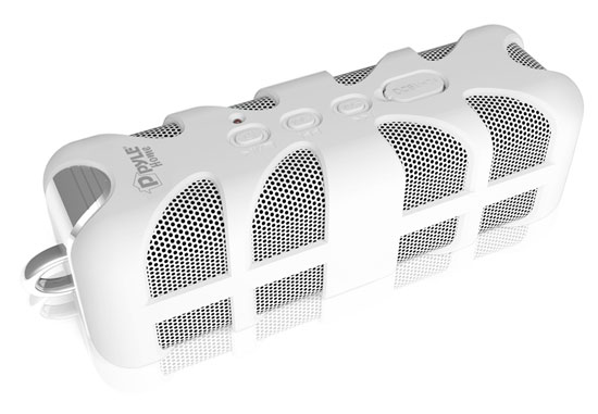 Pyle - PWPBTA70WT , Home Audio / Video , Bluetooth Speakers , Sound Box Splash Rugged and Splash-Proof Bluetooth Marine Grade Portable Wireless Speaker (White)