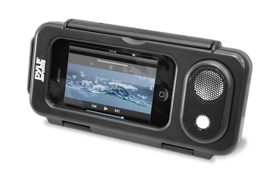 Pyle - PWPS63BK , Marine and Waterproof , Portable Speakers - Boom Boxes , Gadgets and Handheld , Portable Speakers - Boom Boxes , Surf Sound Play Universal Waterproof iPod, iPhone4 & iPhone5 MP3 Player & Smartphone Portable Speaker & Case (Color Black)