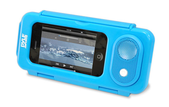 Pyle - PWPS63BL , Marine and Waterproof , Portable Speakers - Boom Boxes , Gadgets and Handheld , Portable Speakers - Boom Boxes , Surf Sound PLAY Universal Waterproof iPod, iPhone4 & iPhone5 MP3 Player Case & Smartphone Portable Speaker (Blue Color)