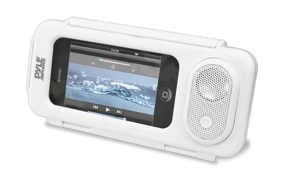 Pyle - PWPS63WT , Marine and Waterproof , Portable Speakers - Boom Boxes , Gadgets and Handheld , Portable Speakers - Boom Boxes , Surf Sound Play Universal Waterproof iPod, iPhone4 & iPhone5 MP3 Player & Smartphone Portable Speaker & Case (Color White)