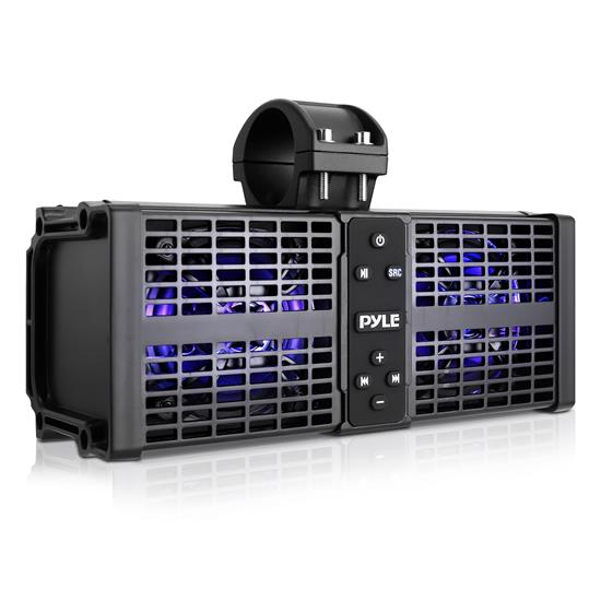 """Pyle - PWPSB1102 , Sound and Recording , SoundBars - Home Theater , 11"""" Powered ATV/UTV Soundbar System - Built-in Class D Stereo Power Amplifier w/ Wireless BT Streaming and LED Lights"""