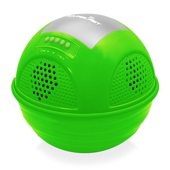 Pyle - PWR90DGN , Home Audio / Video , Bluetooth Speakers , Aqua Blast Bluetooth Floating Pool Speaker System with Built-in Rechargeable Battery  and Wireless Music Streaming (Green Color)