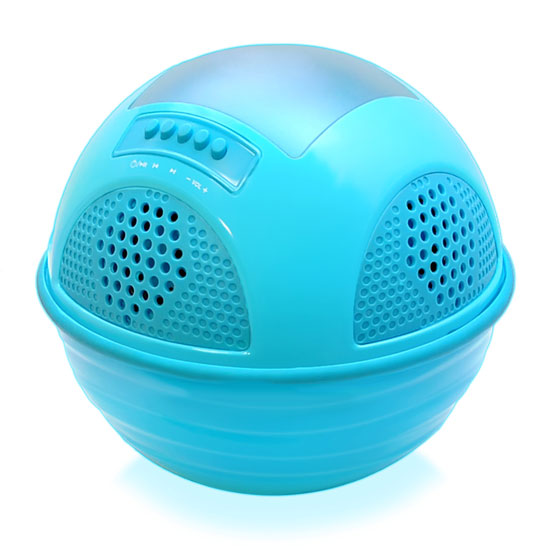 Pyle - PWR95SBL , Sports and Outdoors , Portable Speakers - Boom Boxes , Gadgets and Handheld , Portable Speakers - Boom Boxes , Aqua SunBlast Floating Bluetooth Waterproof Pool Speaker System with Built-in Solar Panel Rechargeable Battery, (4) Built-in Speakers, FM Radio, Micro SD Memory Card Reader (Blue Color)