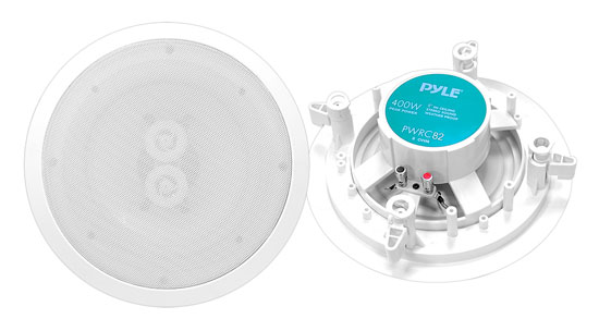 "Pyle - PWRC82 , Home and Office , Home Speakers , Sound and Recording , Home Speakers , 8"" Weather Proof 2-Way In-Ceiling / In-Wall Stereo Speaker (Single Speaker)"