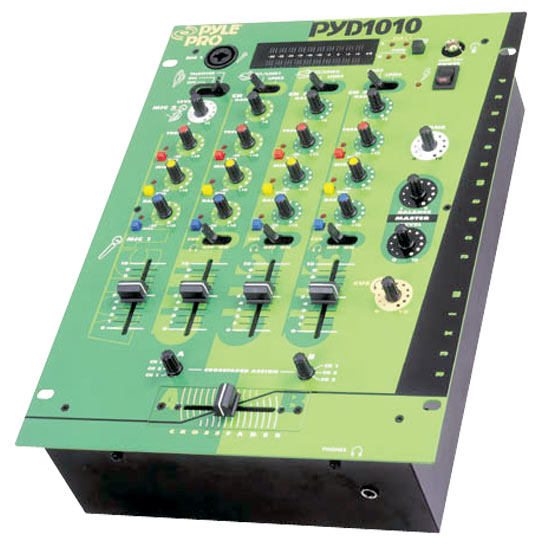 Pyle - PYD1010 , Sound and Recording , Mixers - DJ Controllers , 10'' Three Channel DJ Trick Mixer