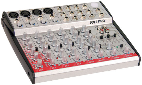 Pyle - PYD1270 , DJ Equipment , DJ Mixers , 12-Channel 2-Bus Console  Mixer