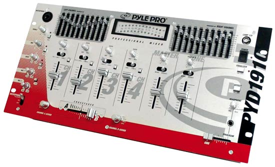 Pyle - PYD1910 , Sound and Recording , Mixers - DJ Controllers , 19'' Rack Mount 4CH Professional Mixer