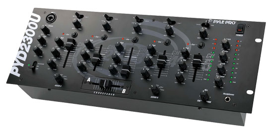 Pyle - PYD2300U , Sound and Recording , Mixers - DJ Controllers , 19'' Rack Mount 5-Channel Professional Mixer with USB