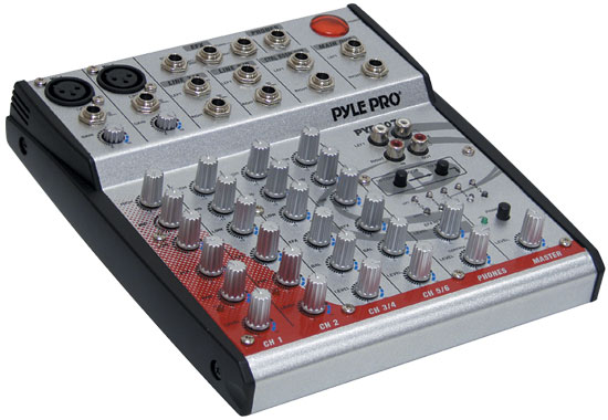 Pyle - PYD6070 , DJ Equipment , DJ Mixers , 6-Channel 2-Bus Console mixer