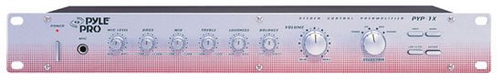 Pyle - PYP1 , Home and Office , Portable Speakers - Boom Boxes , 19'' Rack Mount Stereo Preamplifier