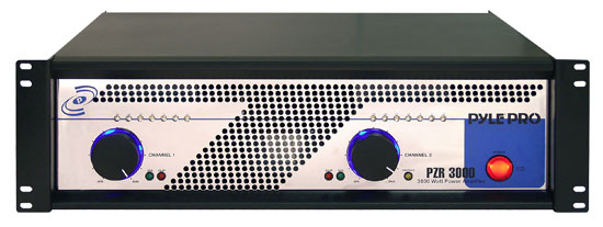 Pyle - PZR3000 , Sound and Recording , Amplifiers - Receivers , 19'' Rack Mount 3000 Watt Power Amplifier