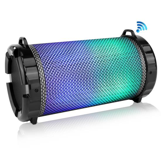 Pyle - SLBSP12 , Sports and Outdoors , Portable Speakers - Boom Boxes , Gadgets and Handheld , Portable Speakers - Boom Boxes , Portable Bluetooth Stereo - Boombox Radio System, Built-in Rechargeable Battery, Flashing DJ Lights, MP3/USB/Micro SD/FM Radio