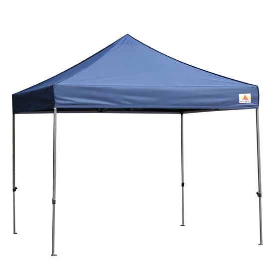 Pyle - SLGZ10BU , Misc , Pop Up Tent Commercial Instant Shelter - Waterproof Polyester Tent with Portable Wheeled Carry Bag and Sand Bag, 10 x 10 ft. (Navy Blue)