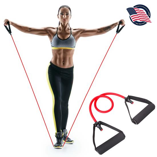Pyle - SLRBGF , Home and Office , Fitness Equipment - Home Gym , Health and Fitness , Fitness Equipment - Home Gym , Adjustable Resistance Band - Portable Home Workout Exercise Band, for Resistance Training, Physical Therapy, Yoga, Pilates