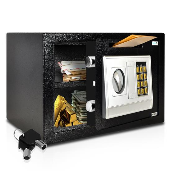 Pyle - SLSFE342 , Home and Office , Safe Boxes - Mailboxes , Electronic Safe Box with Mechanical Override, Includes Keys