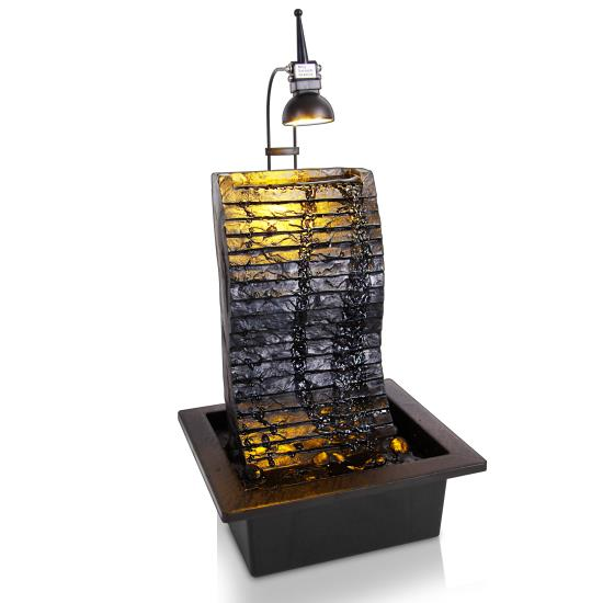 Pyle - SLTWF81LED.5 , Home and Office , Water Fountains , Water Fountain - Relaxing Tabletop Water Feature Decoration
