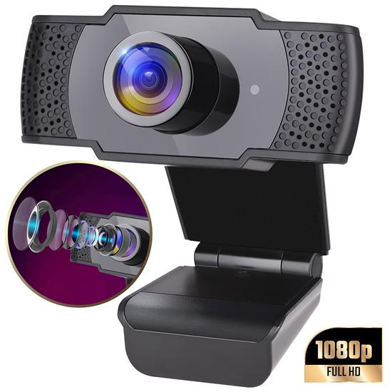 Pyle - SLWBCAM20 , Home and Office , Cameras - Videocameras , Gadgets and Handheld , Cameras - Videocameras , 1080P Full HD Webcam with Microphone - HD Audio & Video Unimpeded w/ USB Connector, Computer Connection, Plug and Play